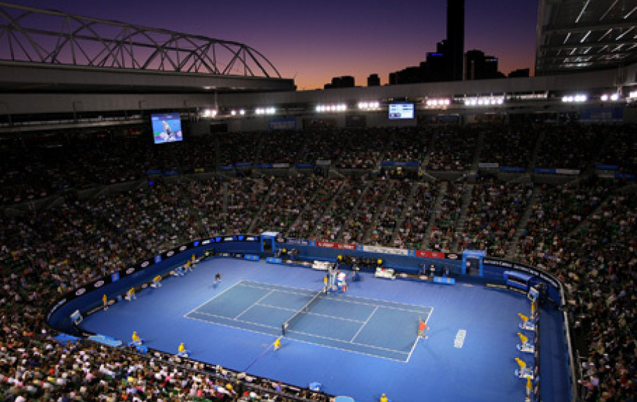 The Australian Open at Flinders Park Tennis Center